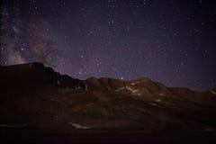 Szczyt jezioro na Mt wyparowywa Fotografia Stock