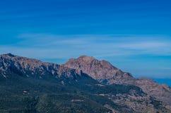 Szczyt Puig Specjalizuje się w Tramuntana górach, GR 221, Mallorca Zdjęcie Royalty Free