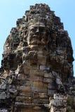 Szczyt twarzy wierza w Bayon świątyni Fotografia Stock