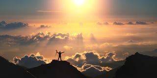 szczyt świata Zdjęcie Stock