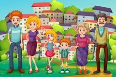 Szczyt z dużą rodziną royalty ilustracja