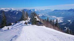 Szczyt Zwolferhorn góra, St Gilden, Austria zbiory wideo