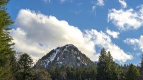 Szczytowa góra massif central, Francja fotografia stock