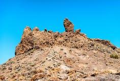 Szczytowe góry Tenerife, wyspy kanaryjska Zdjęcia Stock