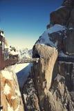 Szczytowy Aiguille du Midi, CHAMONIX, Francja Wysokość: 3842 metru fotografia royalty free