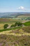 Szczytowy Gromadzki park narodowy od Stanage krawędzi, Derbyshire Fotografia Stock