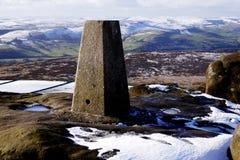 Szczytowy gromadzki Trigg punkt, Derbyshire, UK Zdjęcia Stock