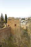 Szczytowy wierza, Alhambra Fotografia Royalty Free