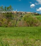Szczytu miasteczko, Tuscany Zdjęcia Royalty Free