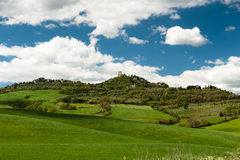 Szczytu miasteczko, Tuscany Fotografia Royalty Free