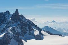 Szczyty Francuscy Alps Zdjęcia Royalty Free