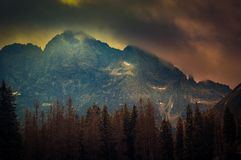 Szczyty Tatras zaraz po wiosną szaleją obrazy royalty free