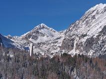 Szczyty Wysoki Tatras i Narciarski skok Zdjęcie Royalty Free