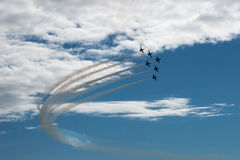 Sześć aircrafs Zdjęcia Stock