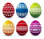 Sześć Easter jajek, wektor zdjęcie royalty free