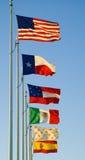 sześć flag Teksas obrazy royalty free