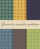 Sześć Geometrycznych Bezszwowych wzorów Roczników wzory ilustracja wektor