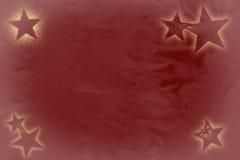 Sześć gwiazd z złotym jaśnieniem na zamazanym zmroku Obraz Stock