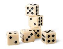 Sześć hazardów kostka do gry zdjęcie royalty free