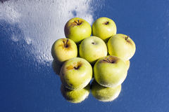 Sześć jabłek Zdjęcia Royalty Free