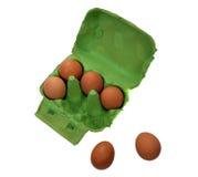 Sześć jajek Obrazy Stock