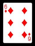 Sześć Karowy karta do gry, Fotografia Royalty Free