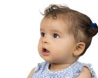 Sześć miesięcy starych, międzyrasowa dziewczyna w profilu obrazy royalty free