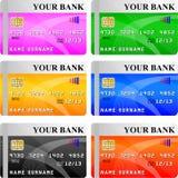 Kredytowej karty wektor Fotografia Stock