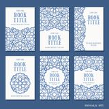 Sześć ręki rysujących książkowych pokryw ilustracja wektor