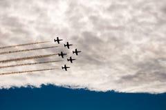 Sześć samolotów w niebie Zdjęcia Stock
