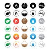 Sześć setów element ikony Fotografia Stock