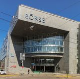 SZEŚĆ Swiss Exchange budynków w Zurich, Szwajcaria Zdjęcie Stock