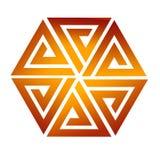 Sześć trójboka colour brązu łącznych gradientów ilustracja wektor