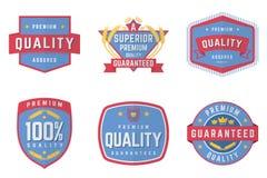 Sześć Wektorowych emblematów Zdjęcie Stock