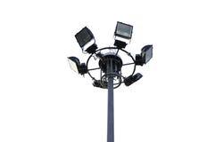 Sześć wysokich plenerowych świateł Zdjęcie Royalty Free