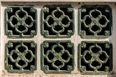 Sześć zielonych okno na wzorze Zdjęcia Royalty Free
