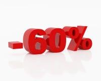 sześćdziesiąt procent Fotografia Stock