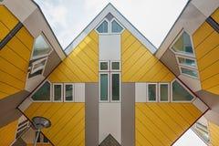 Sześcianów domy są setem nowatorscy domy Obraz Stock
