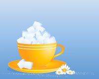 Sześcian cukrowa filiżanka Zdjęcia Royalty Free