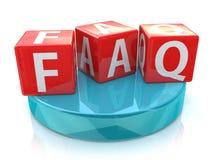 Sześcianu faq dobrowolnie pytać pytania Zdjęcia Stock