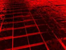 sześcianu lód zrobił czerwieni powierzchni royalty ilustracja