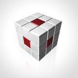 Sześcianu logo Zdjęcie Stock