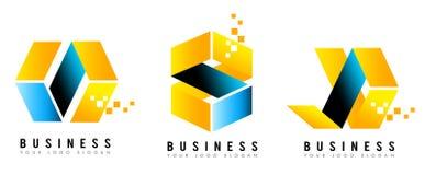 Sześcianu logo royalty ilustracja