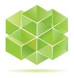 sześcianu projekta zieleń Obrazy Stock