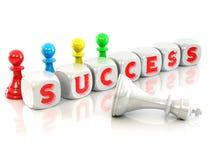 sześcianu sukces ilustracja wektor