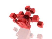 sześciany czerwoni ilustracja wektor