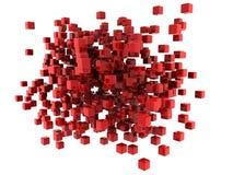 sześciany czerwoni royalty ilustracja