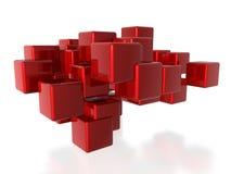 sześciany czerwoni ilustracji