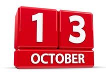 Sześciany 13th Październik Obrazy Stock