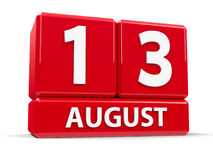 Sześciany 13th Sierpień Zdjęcia Royalty Free